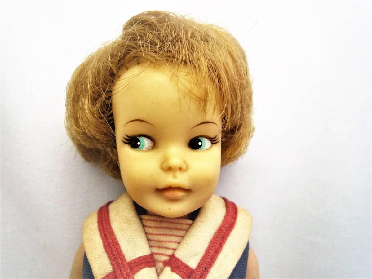 ビンテージ 1964年 アイデアルの着せ替え人形 ペッパーちゃん 洋服2点と小物あり 中古 日本製_画像3