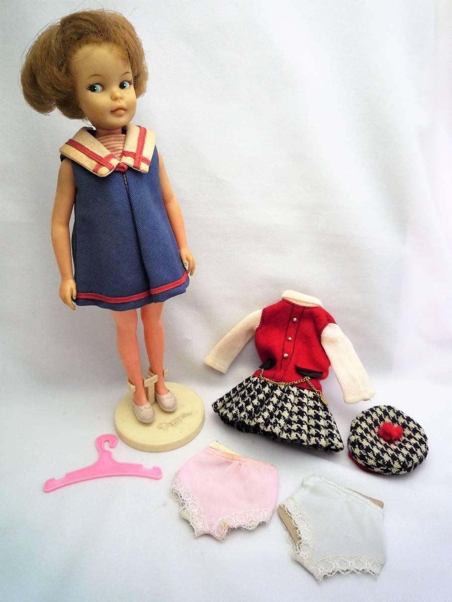 ビンテージ 1964年 アイデアルの着せ替え人形 ペッパーちゃん 洋服2点と小物あり 中古 日本製_画像1