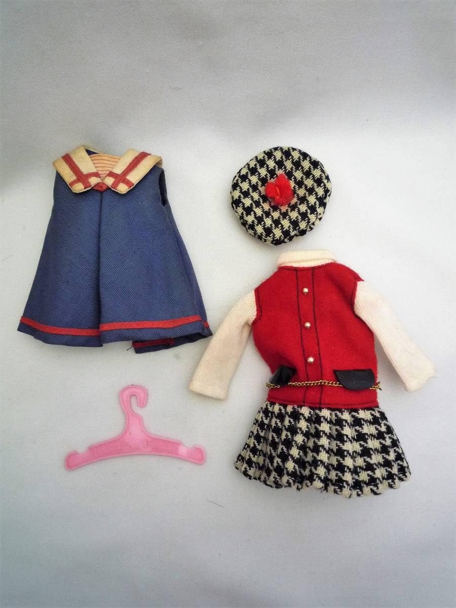 ビンテージ 1964年 アイデアルの着せ替え人形 ペッパーちゃん 洋服2点と小物あり 中古 日本製_画像8