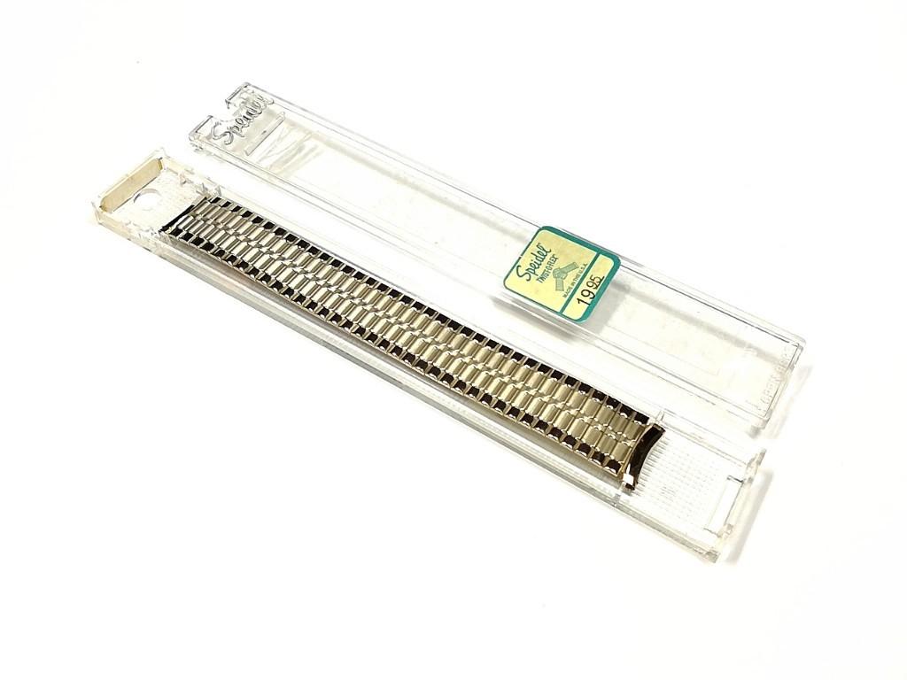 【Speidel】USA ケース付きデッドストック メンズウォッチ伸縮バンド 腕時計ベルト エクスパンションブレス ビンテージ MB782_画像2