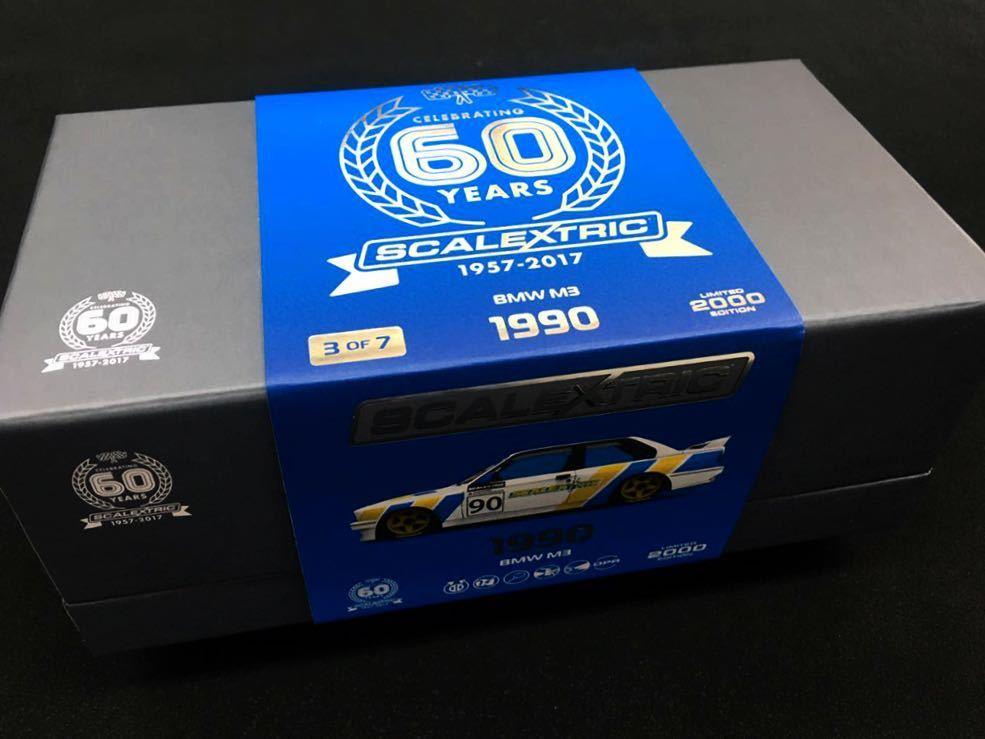 Scalextric スケーレックストリック 1/32 スロットカー◆BMW E30 M3 スケレ 60周年記念 限定モデル C3829A★即決OK、送料無料!!★