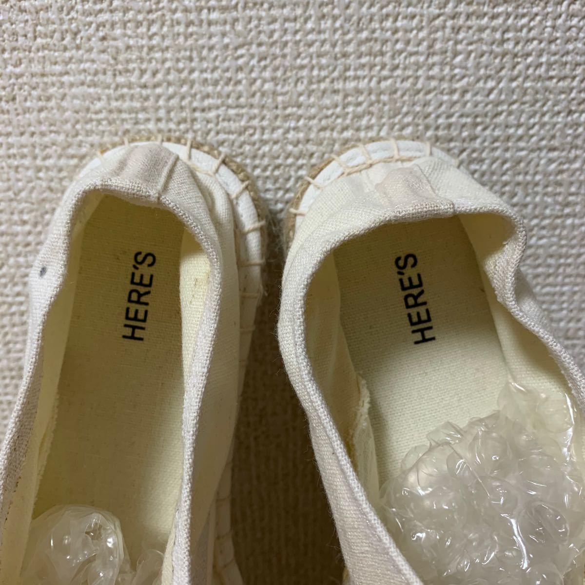 HERE'S バブーシュ フラットシューズ スリッポン スニーカー 靴