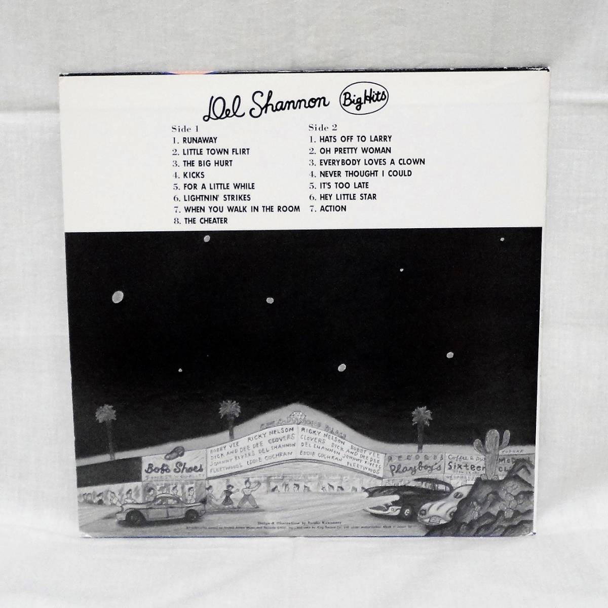 Del Shannon Big Hits 国内盤LP_画像2