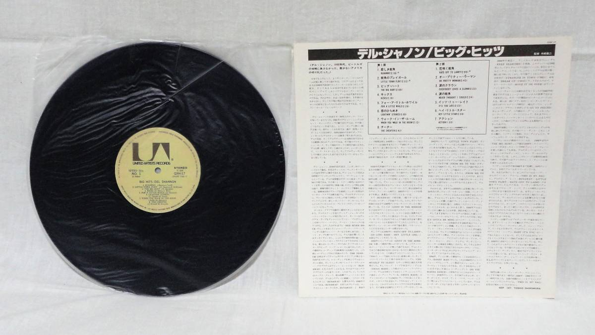 Del Shannon Big Hits 国内盤LP_画像3