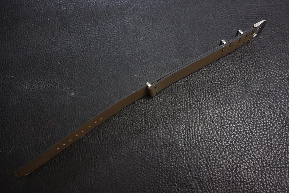 ◆レザーNATO G10ストラップ◆ オイルドカーフレザー カーキ 22mm 強力撥水 新品 日本製 本革 ミリタリー ブレスレット 腕時計ベルト_画像3