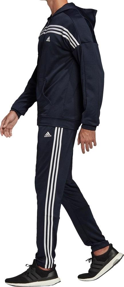 アディダス メンズ アーバントラックスーツ Sサイズ ネイビー/ホワイト 紺 フルジップフーディー&パンツ ジャージ上下セット セットアップ_画像2