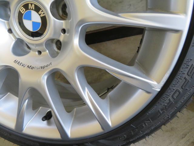 E408 BMW純正 BBS BMW Motorsport 2019年製 超バリ山 225/40R18 255/35R18 3シリーズなどに!激安!_画像4