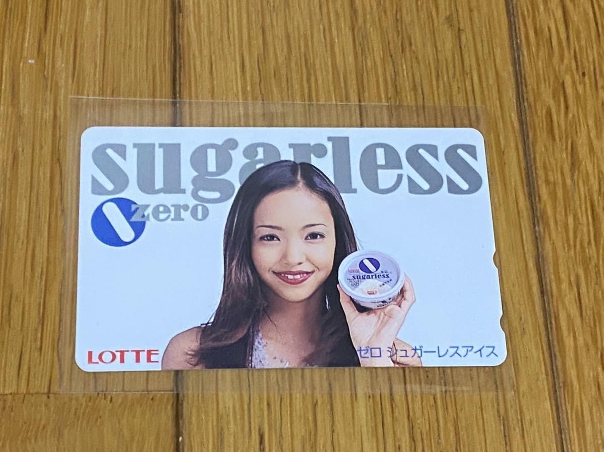安室奈美恵 LOTTE sugarless zero テレカ テレホンカード_画像1