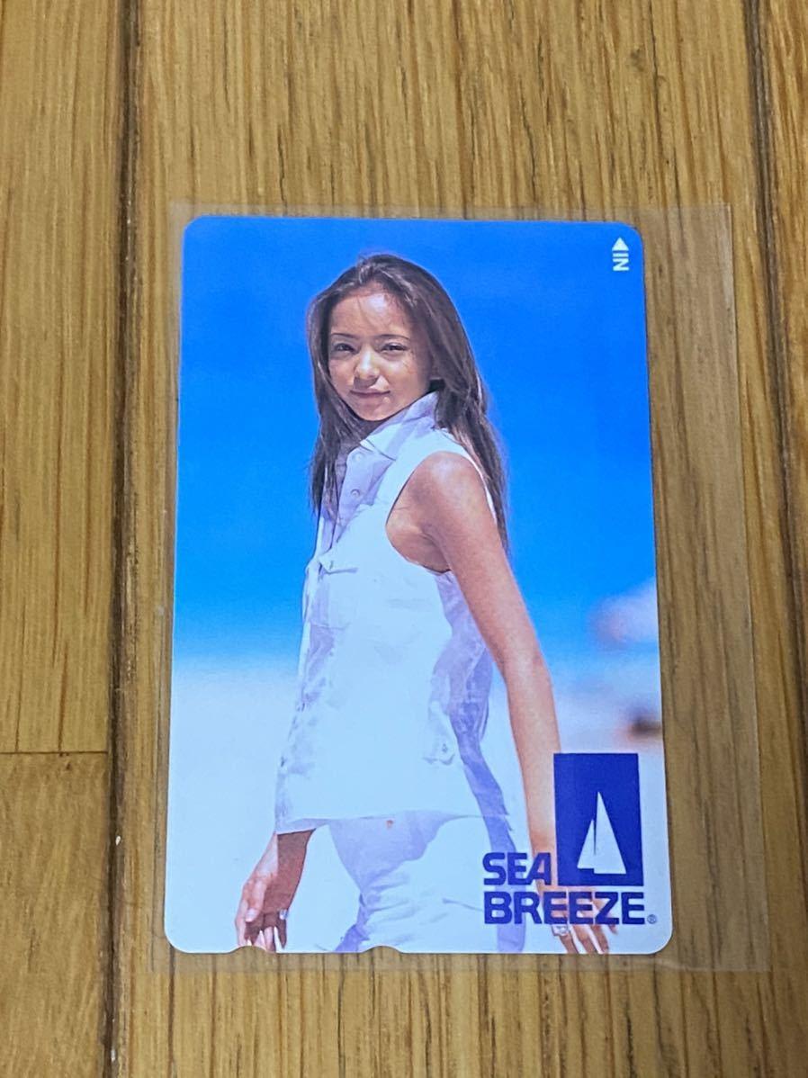 安室奈美恵 SEA BREEZE テレカ テレホンカード_画像1