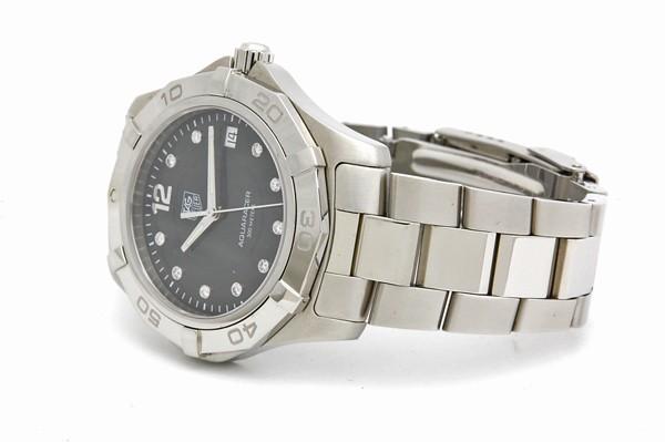 タグホイヤー TAG HEUER アクアレーサー WAF111C ダイヤ クォーツ QZ SS メンズ 腕時計 電池交換・ポリッシュ済_画像2