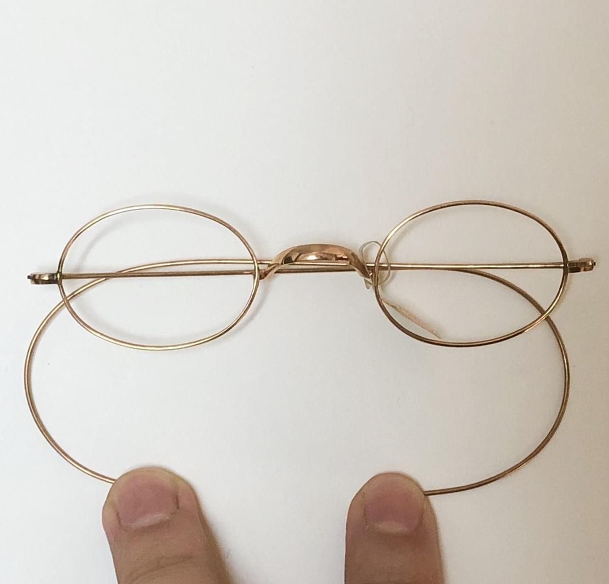 新品・AO10K金張 純正メガネ 1870~1910年代頃 American Optical アメリカンオプティカル 米国ブランド ビンテージ / ヴィンテージ_画像9