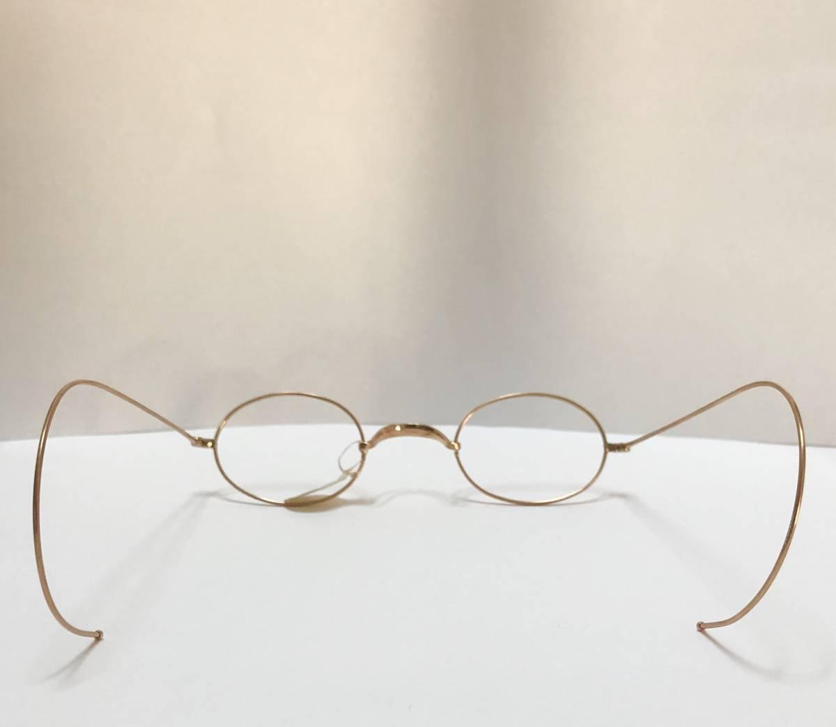 新品・AO10K金張 純正メガネ 1870~1910年代頃 American Optical アメリカンオプティカル 米国ブランド ビンテージ / ヴィンテージ_画像7