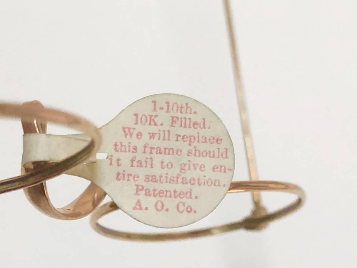 新品・AO10K金張 純正メガネ 1870~1910年代頃 American Optical アメリカンオプティカル 米国ブランド ビンテージ / ヴィンテージ_画像6