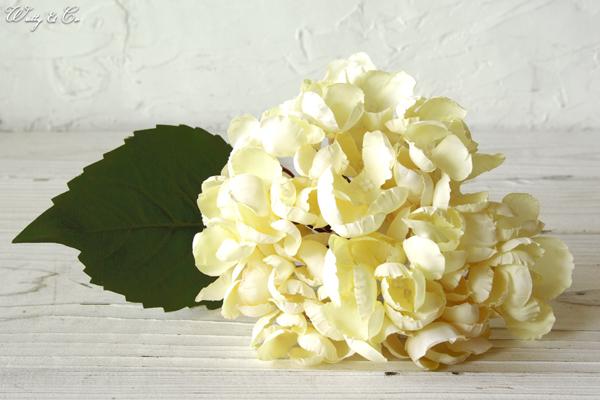 人工観葉植物 ハイドランジア White 光触媒加工 ( フェイクグリーン ドライフラワー風 紫陽花 あじさい アジサイ 人工樹木 ) KI GR-0092_画像3