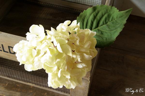 人工観葉植物 ハイドランジア White 光触媒加工 ( フェイクグリーン ドライフラワー風 紫陽花 あじさい アジサイ 人工樹木 ) KI GR-0092_画像1