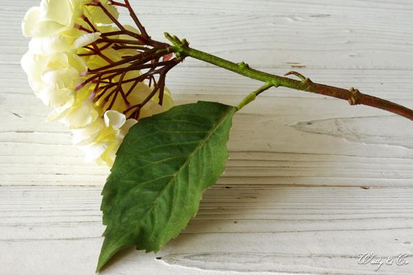人工観葉植物 ハイドランジア White 光触媒加工 ( フェイクグリーン ドライフラワー風 紫陽花 あじさい アジサイ 人工樹木 ) KI GR-0092_画像4