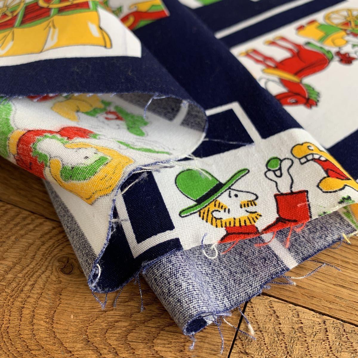 はぎれ 92×49 昭和レトロ デッドストック 生地 ハンドメイド リメイク カントリー柄 アンティーク ヴィンテージ 材料 裁縫 入園入学準備