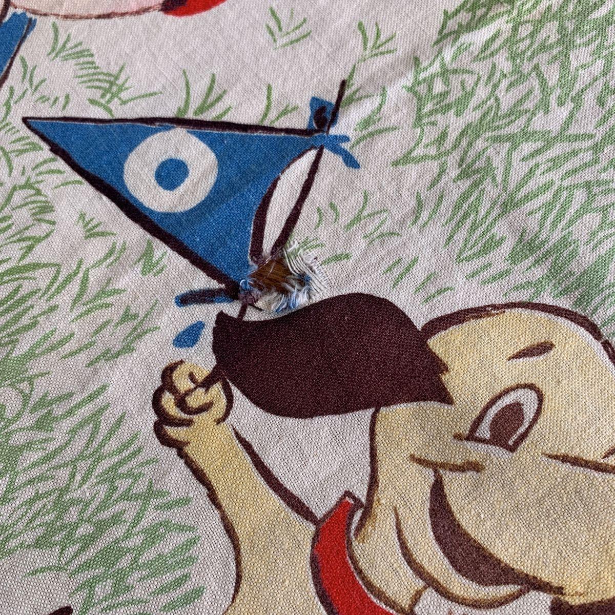 70's アメリカンフットボール柄 アメフト カーテン USED ヴィンテージ リメイク 雑貨 古着屋 ハンドメイド アンティーク デッドストック_画像2