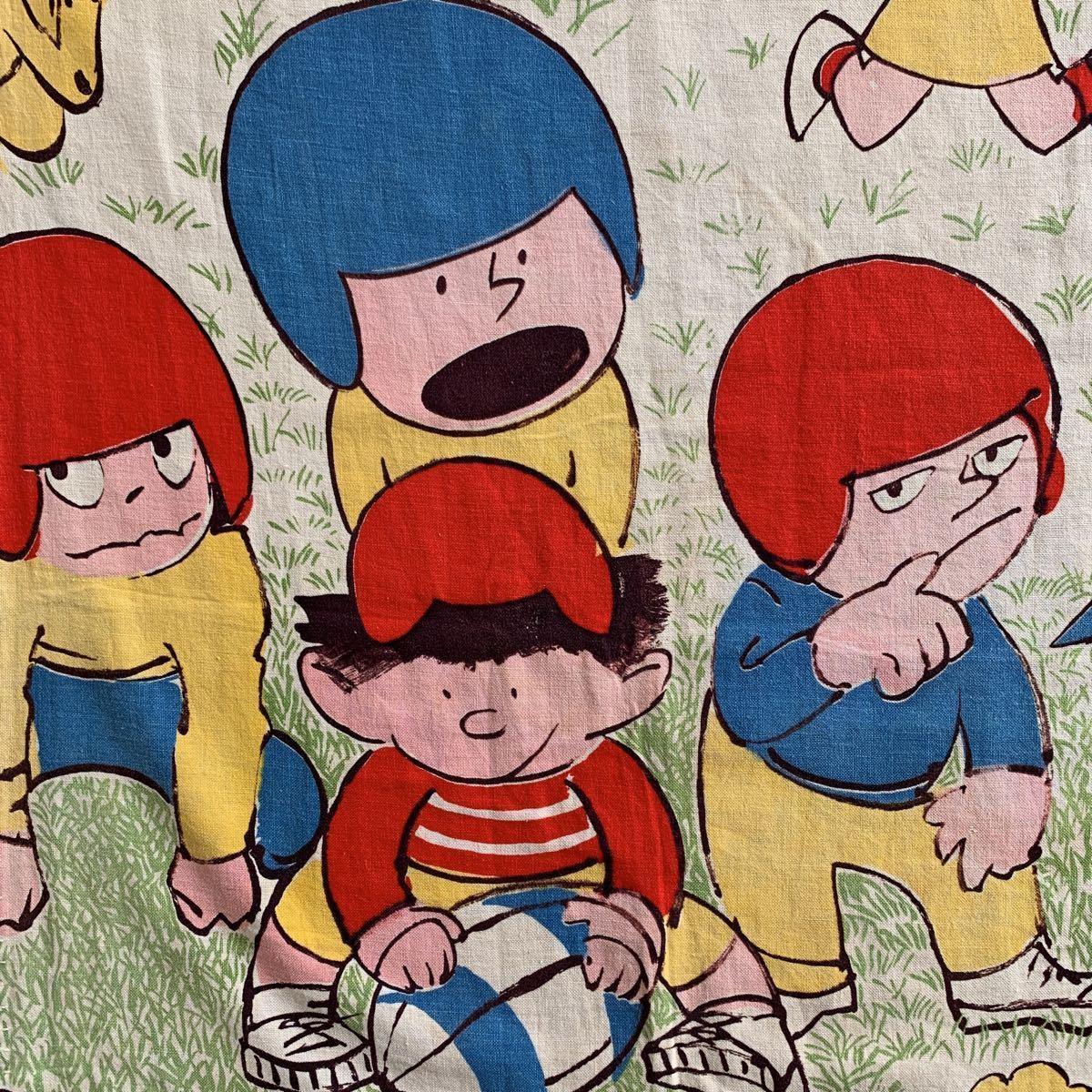 70's アメリカンフットボール柄 アメフト カーテン USED ヴィンテージ リメイク 雑貨 古着屋 ハンドメイド アンティーク デッドストック_画像1
