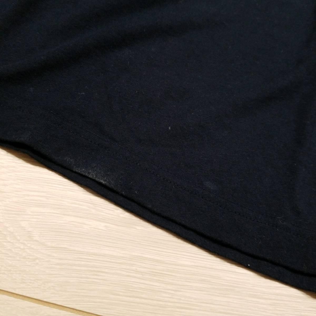 K187 UNIQLO ユニクロ ディズニー ミッキー グラフィック Tシャツ L キャラクター カットソー ネイビー系 紺系 綿100% コットン メンズ ..