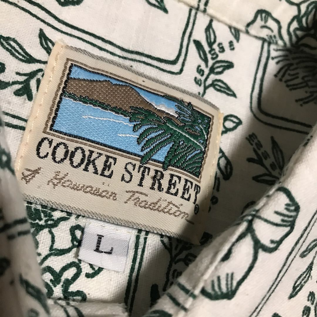 L【COOKE STREET/HAWAII】シャツ・白カーキ