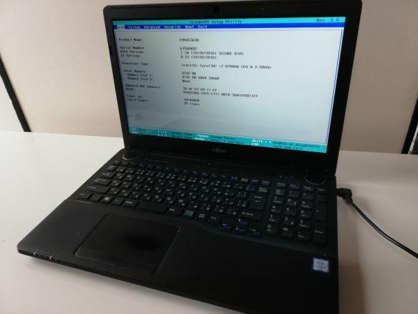 【ジャンク】富士通 FMV AH53/A3 FMVA53A3B Core i7-6700HQ BIOS起動可能