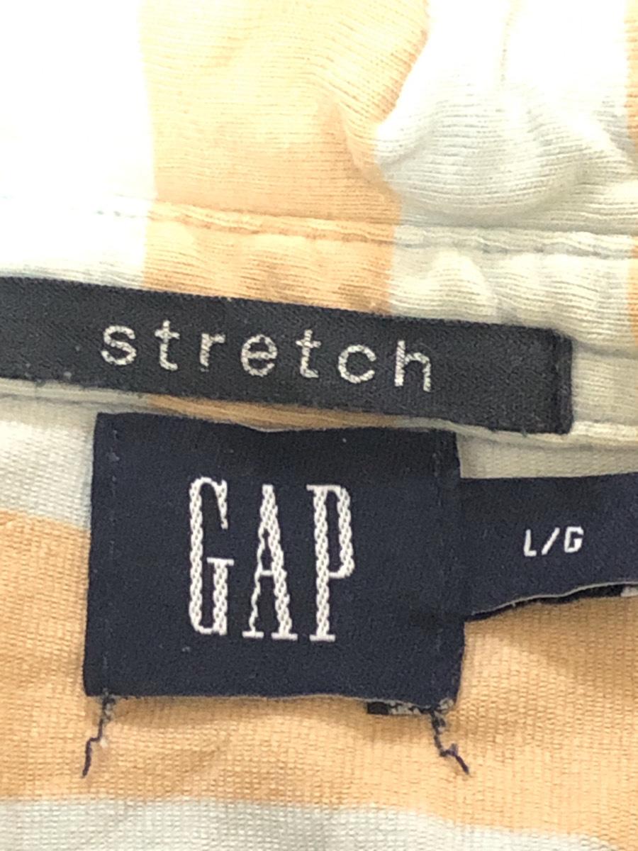 GAP ギャップ ポロシャツ 半袖 ライトブルー×オレンジ系 ボーダー柄 トップス シンプルデザイン 着心地良い L/G【アウトレット】Q8_画像3