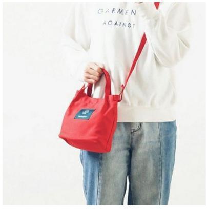 ★激安特価★【レッド】キャンバス カジュアル ミニ手提げ トートバッグ 小型サイズ 帆布 かわいい おしゃれ お出かけ バッグ かばん_画像2