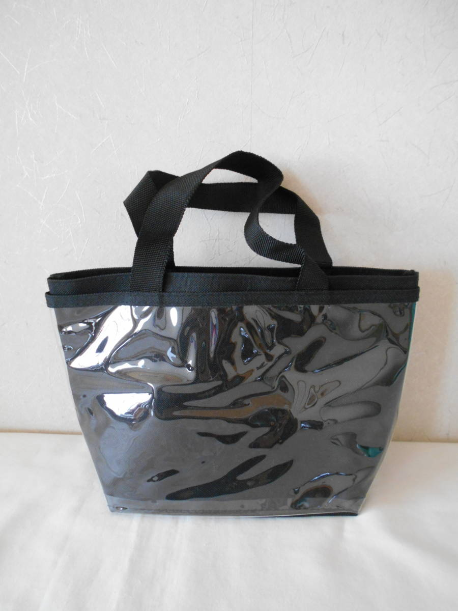 ●未使用●前が透明ポケット 自分流りアレンジ出来る・トートバッグ/手提げ ハンドメイド用に・・バッジ・ぬいぐるみ・ポスターなど_画像1