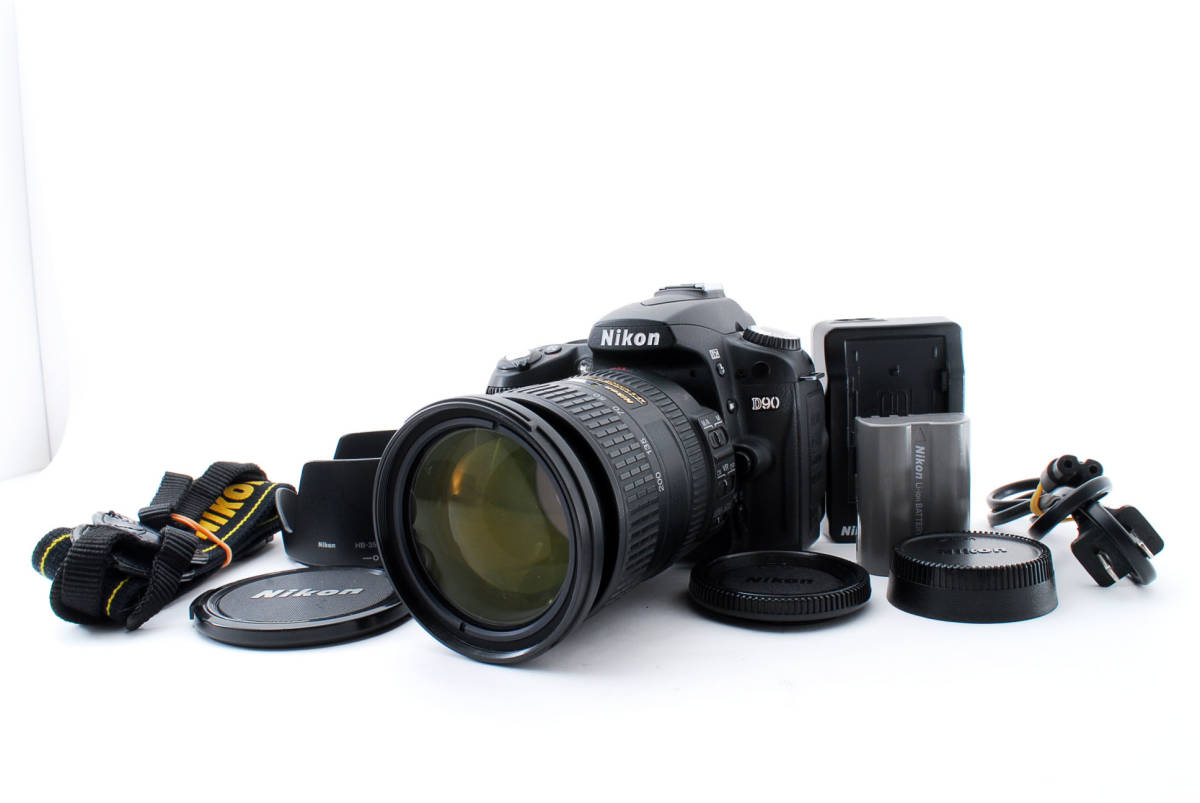 ◆極美品◆Nikon ニコン D90 + AF-S DX NIKKOR 18-200mm F3.5-5.6G ED VR II レンズキット