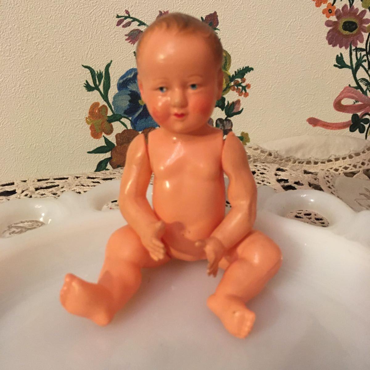 ヴィンテージ プチコラン フランス セルロイド 赤ちゃん ベビー アンティーク ドール 人形_画像1