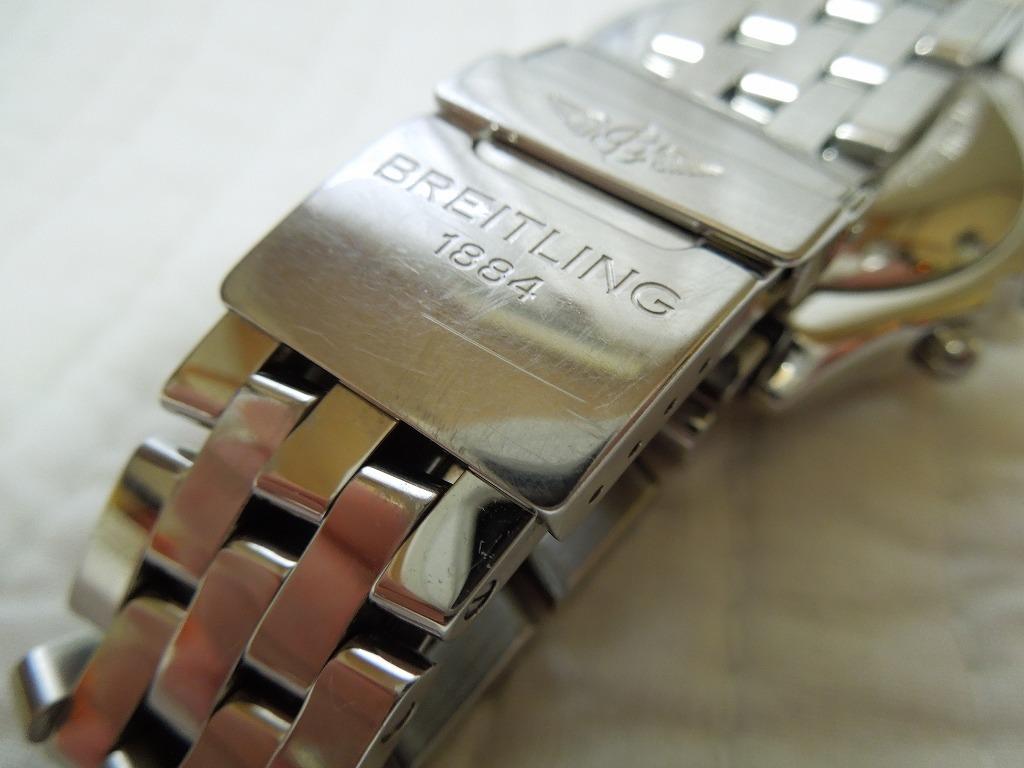 送料無料 ブライトリング BREITLING クロノマット A13050.1 【型式】A136C30PA ブルー パイロットブレス_横傷ご確認下さい。