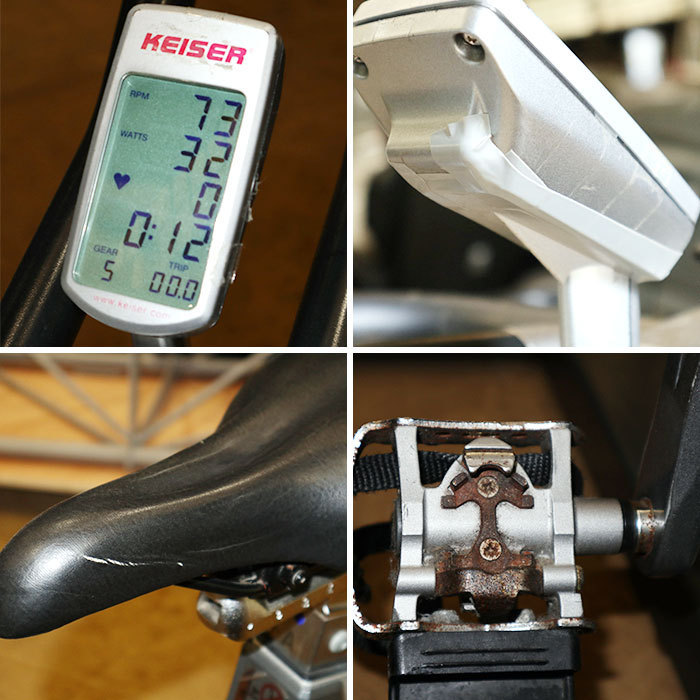 ‰ カイザー KEISER インドアサイクル m3 スピンバイク エアロバイク トレーニング サイクリングマシン 中古 KE_画像3