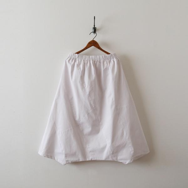 SALE。「愉快なパンツ」83cm丈 コットン100% パッチワーク サルエル ホワイト F41_画像2
