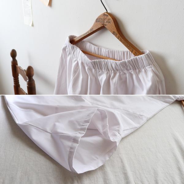 SALE。「愉快なパンツ」83cm丈 コットン100% パッチワーク サルエル ホワイト F41_画像4