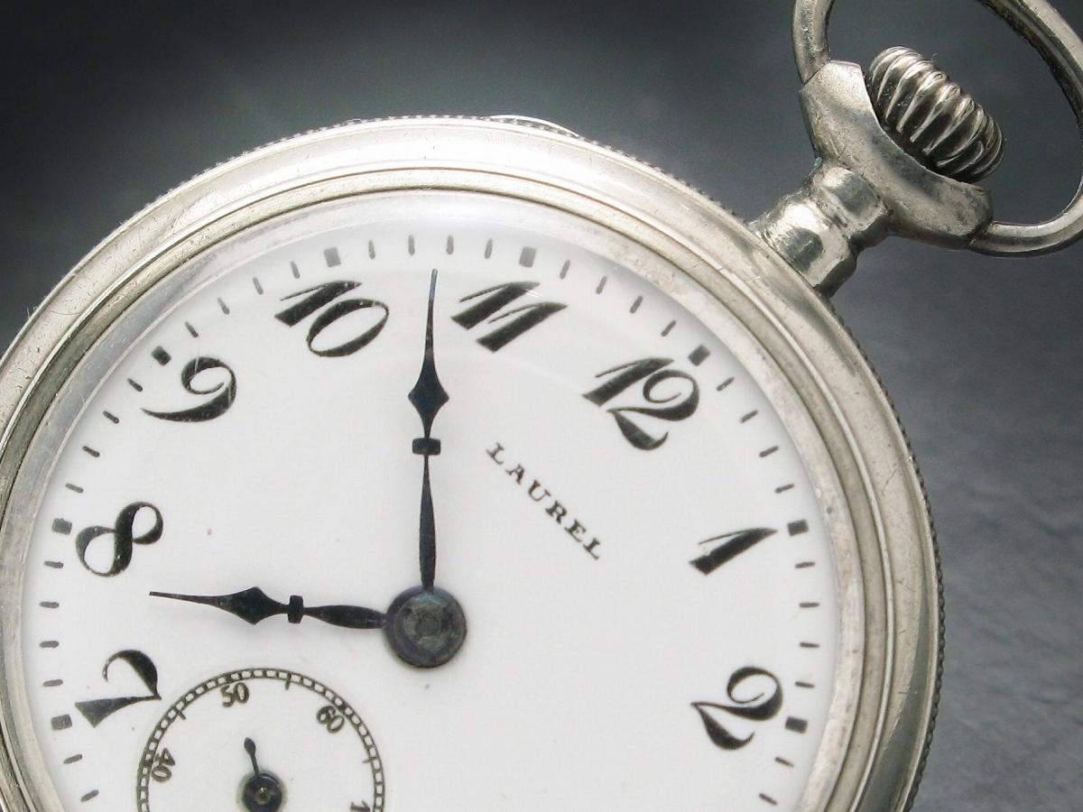 Seikosha Laurel 銀無垢 ローレル 国産初の腕時計 1914年 日本時計産業史 機械遺産 懐中時計 精工舎