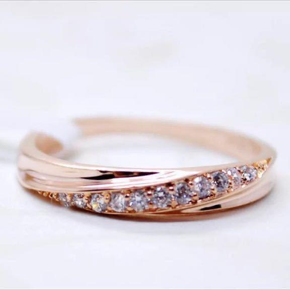 16号 AAA CZダイアモンド ピンクゴールド リング サージカルステンレス 18KGP エンゲージリング 特価 結婚指輪_画像2