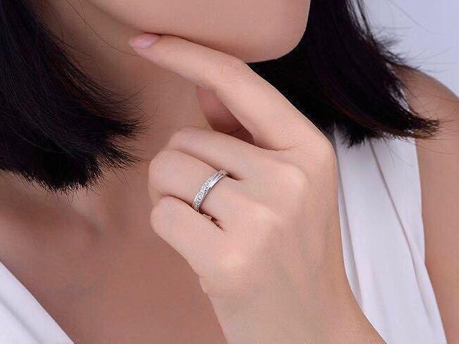 16号 AAA CZダイアモンド ピンクゴールド リング サージカルステンレス 18KGP エンゲージリング 特価 結婚指輪_画像5