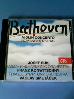 ヨゼフ・スーク ベートーヴェン ヴァイオリン協奏曲 コンヴィチュニー チェコ・フィル 「ロマンス」 スメターチェク プラハ響 チェコ盤_画像1