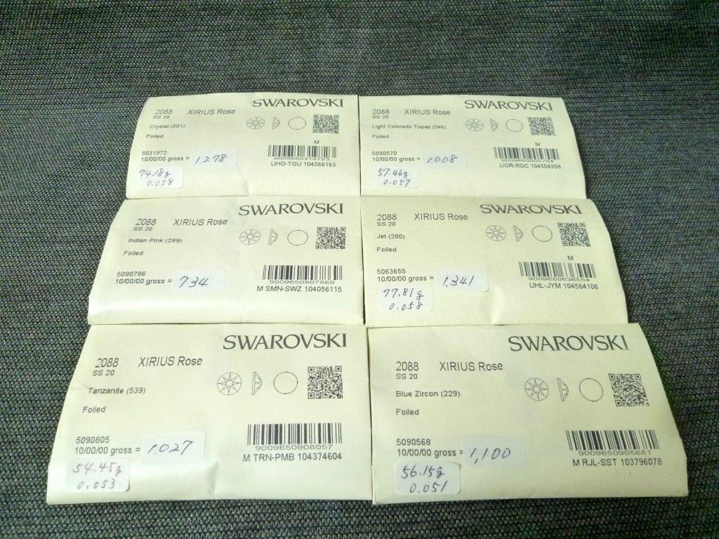 その2 開封済 X 6袋 スワロフスキー ラインストーン 2088 SS20 ネイル デコ Swarovski社製 オーストリア製 正規品