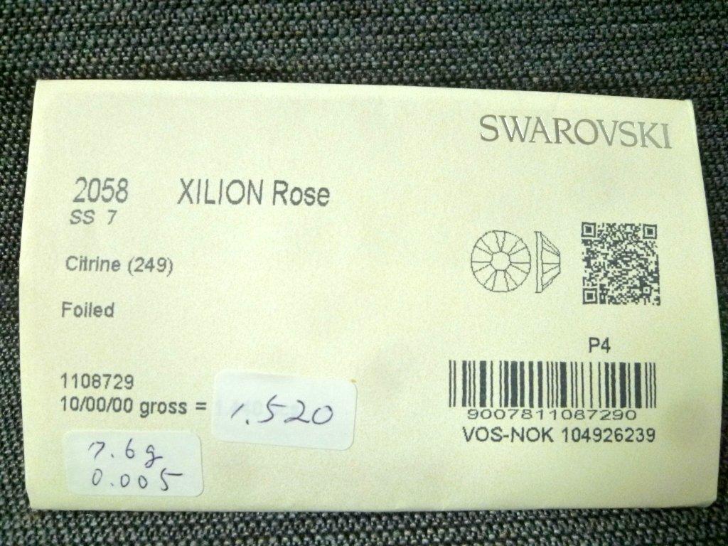 その15 開封済 X 4袋 2058 SS7 スワロフスキー ラインストーン ネイル デコ Swarovski社製 オーストリア製 正規品_画像2
