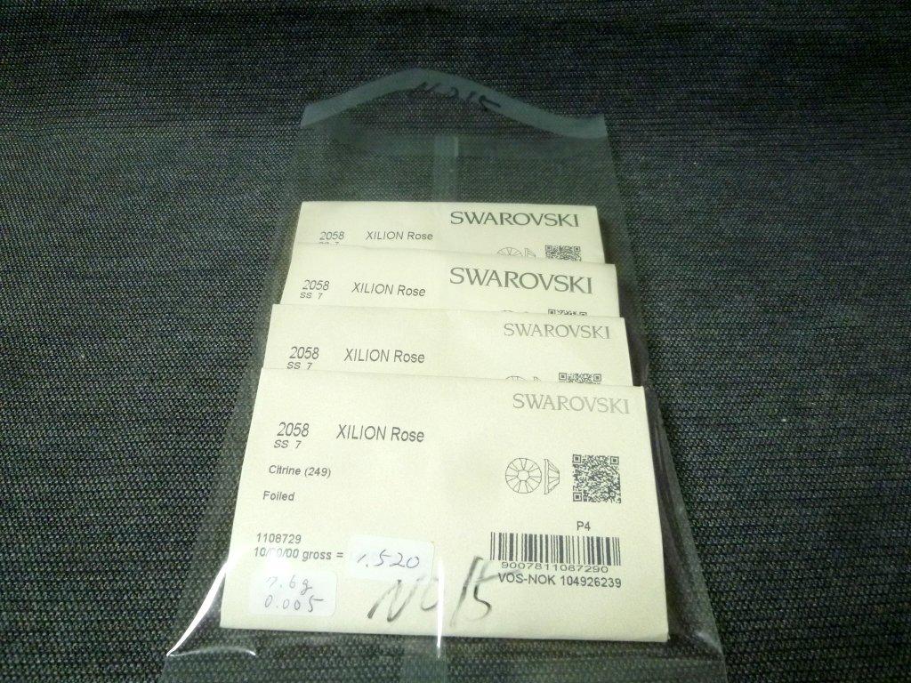 その15 開封済 X 4袋 2058 SS7 スワロフスキー ラインストーン ネイル デコ Swarovski社製 オーストリア製 正規品_画像6