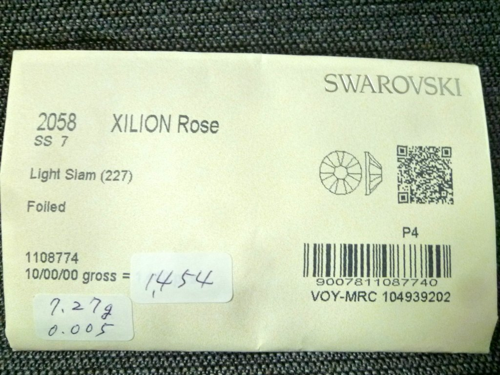 その15 開封済 X 4袋 2058 SS7 スワロフスキー ラインストーン ネイル デコ Swarovski社製 オーストリア製 正規品_画像3
