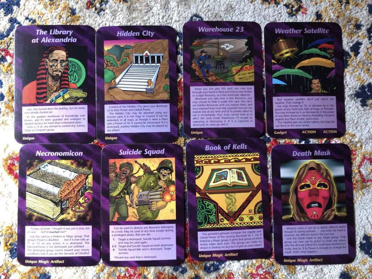 (カードゲーム) イルミナティ 【独自調査】未来を予言しているという「イルミナティカード」を16枚入手して解読してみた →
