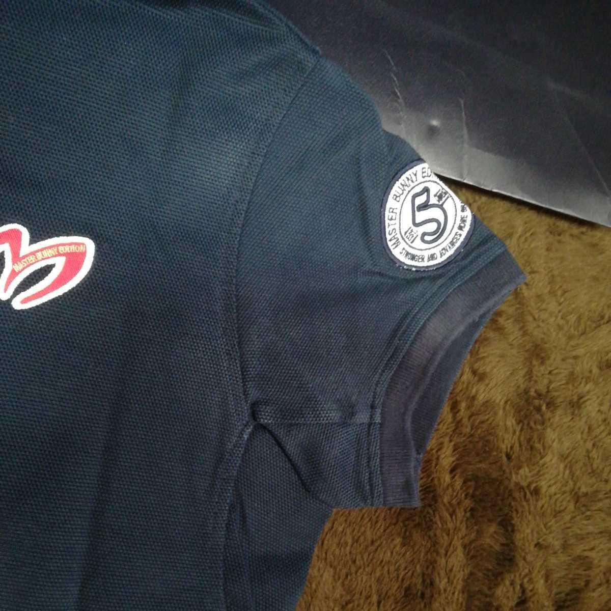 中古 正規品 マスターバニー パーリーゲイツ サイズ2 高品質エアロタッシェ素材 高機能 ポロシャツ 2枚セット 送料無料_画像3