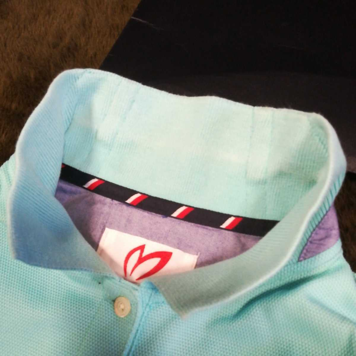 中古 正規品 マスターバニー パーリーゲイツ サイズ2 高品質エアロタッシェ素材 高機能 ポロシャツ 2枚セット 送料無料_画像10
