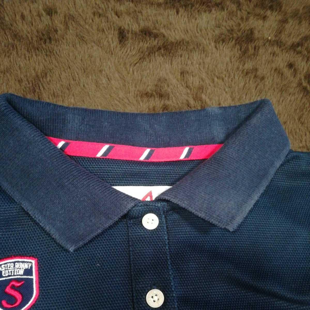 中古 正規品 マスターバニー パーリーゲイツ サイズ2 高品質エアロタッシェ素材 高機能 ポロシャツ 2枚セット 送料無料_画像6