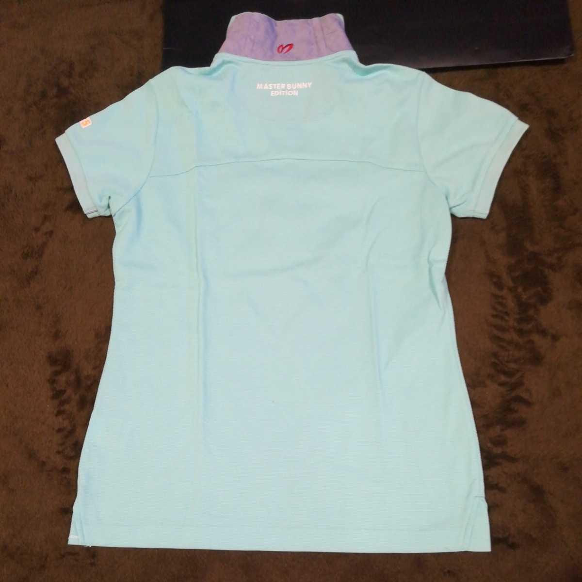 中古 正規品 マスターバニー パーリーゲイツ サイズ2 高品質エアロタッシェ素材 高機能 ポロシャツ 2枚セット 送料無料_画像8