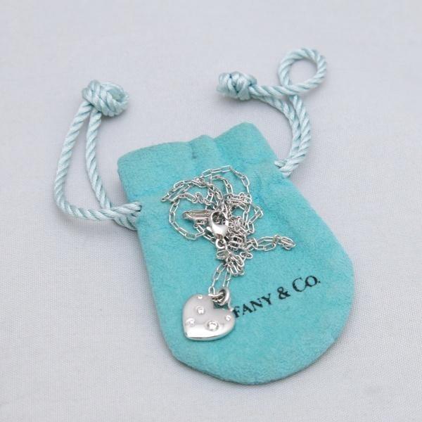 Tiffany & Co.ティファニー センチメンタル ハート ダイヤ ネックレス K18 WG ホワイトゴールド レディース 美品◆中古A【005】_画像6