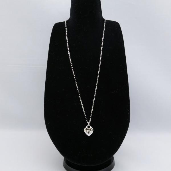 Tiffany & Co.ティファニー センチメンタル ハート ダイヤ ネックレス K18 WG ホワイトゴールド レディース 美品◆中古A【005】_画像3